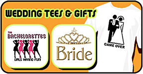 Wedding t-shirts & wedding party gifts